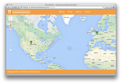 The map feature in our Cloud Platform