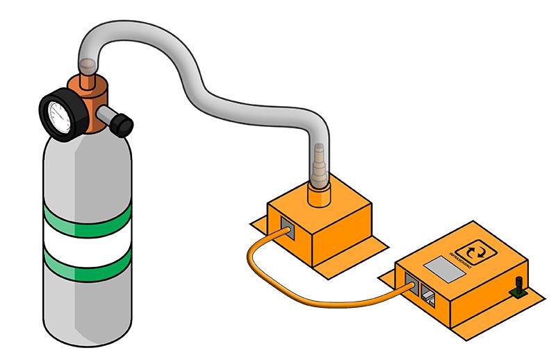 hydrogen bump gas testing