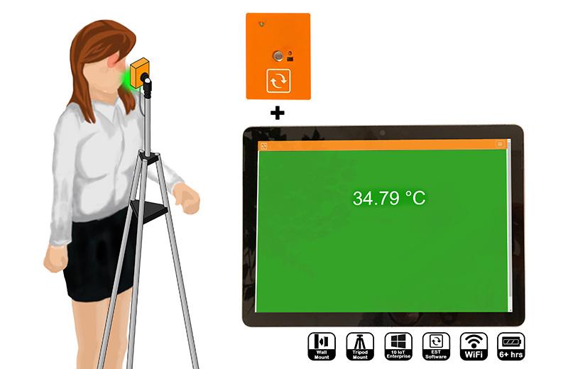 IR Spot EST solution for elevated skin temperature