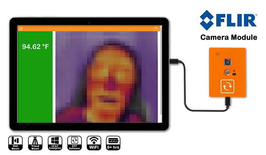 Thermal camera EST solution for elevated skin temperature