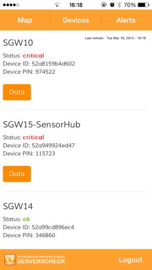 ServersCheck iOS app