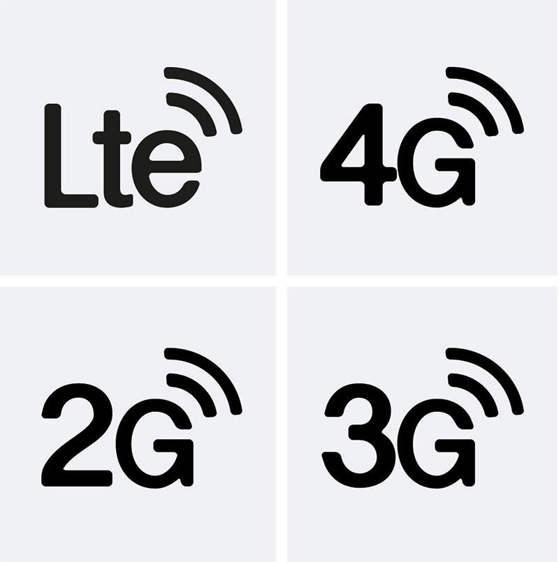 LTE 3G 2G icon