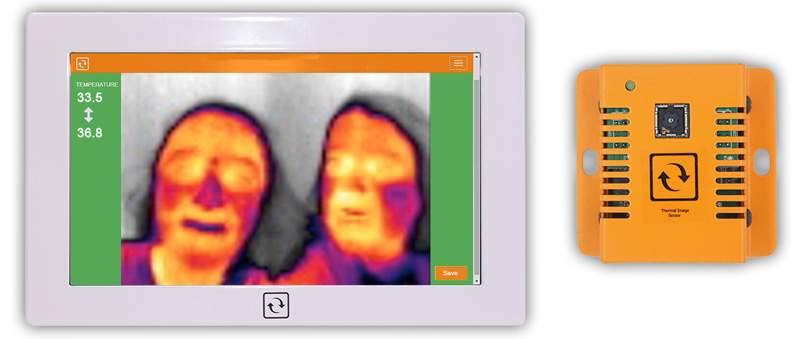 Covid 19 Corona Virus - Monitoring Touch Appliance with InfraSensing infrared thermal camera