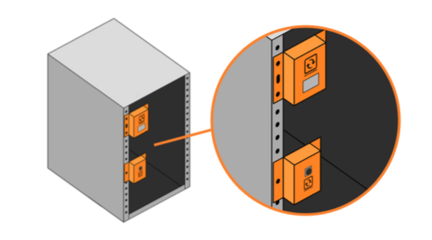 InfraSensing 0 (zero) U rack mount