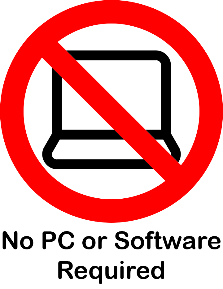 no pc required for the sensor to operate once configured