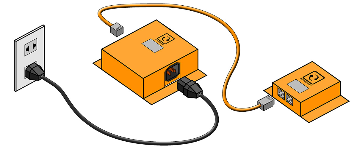 Illustration showing how the AC power quality sensor works