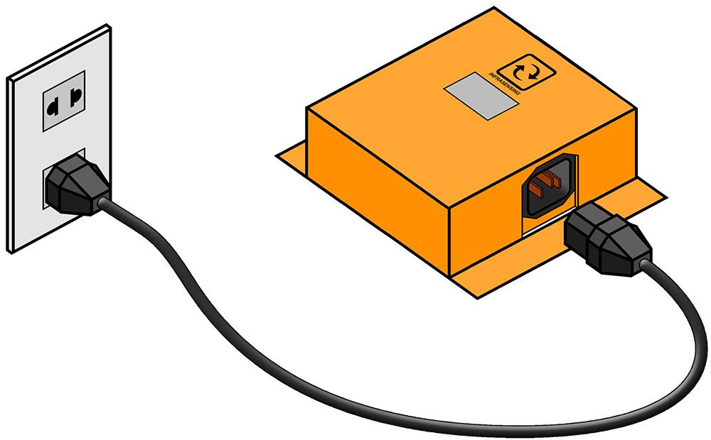 ServersCheck / InfraSensing Power Quality Sensor Drawing