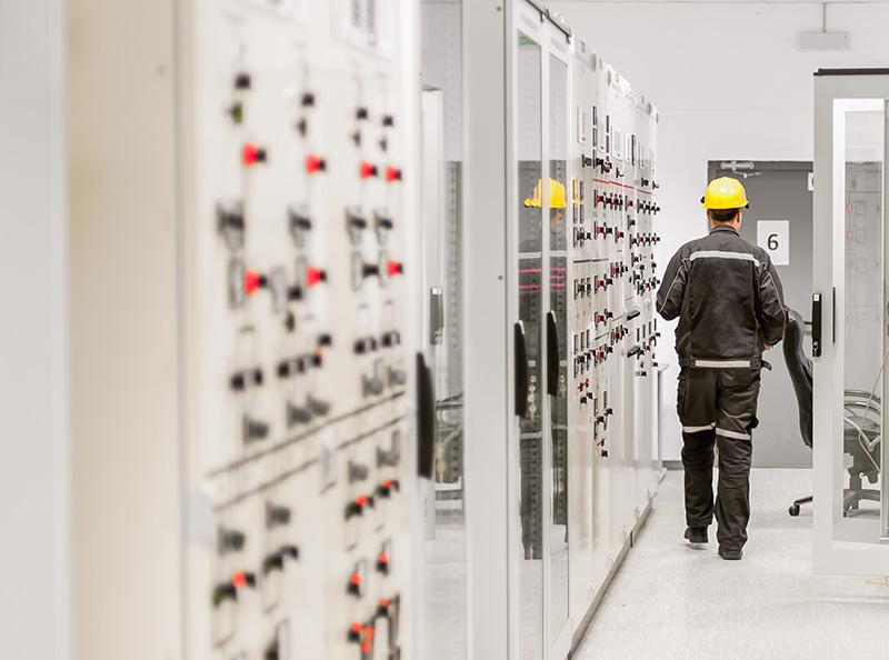Medium Voltage Switchgear room