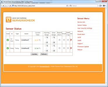Sensorgateway screenshot