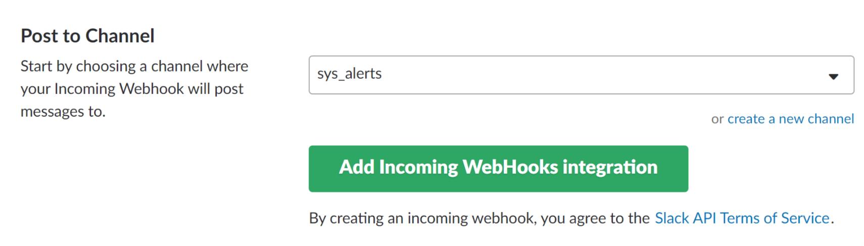 Slack Integration 4 with ServersCheck