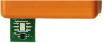 Externally mounted temperature sensor